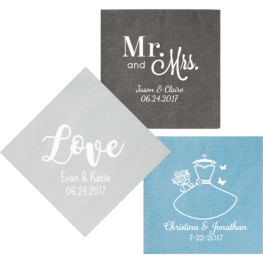 Personalized Wedding Bella Dinner Napkins Image #1
