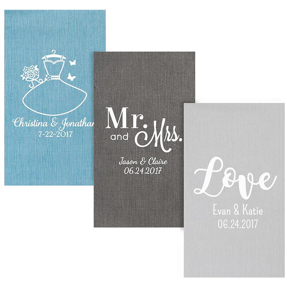 Personalized Wedding Bella Guest Towels Image #1