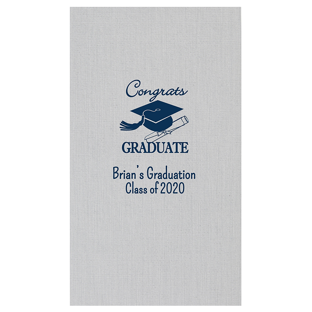 Personalized Graduation Bella Guest Towels    Image #1