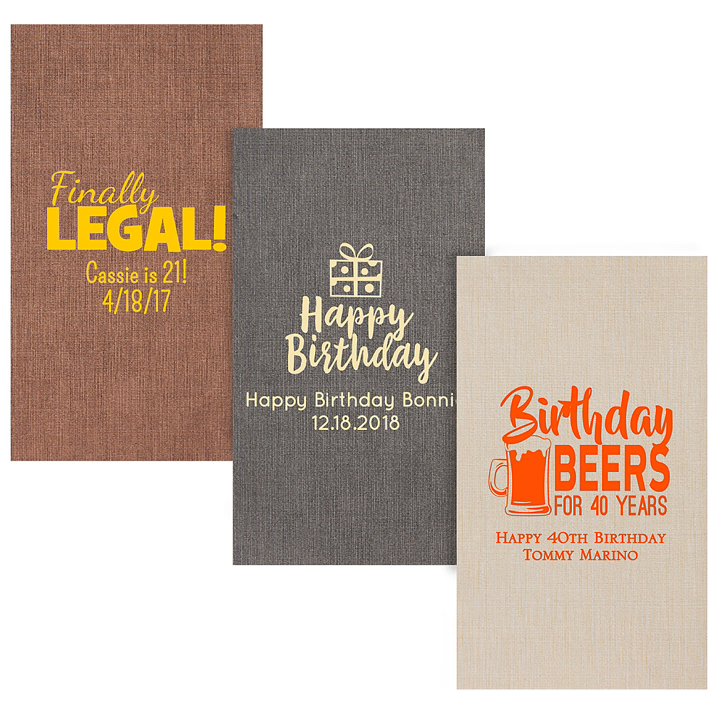 Personalized Milestone Birthday Bella Guest Towels Image #1