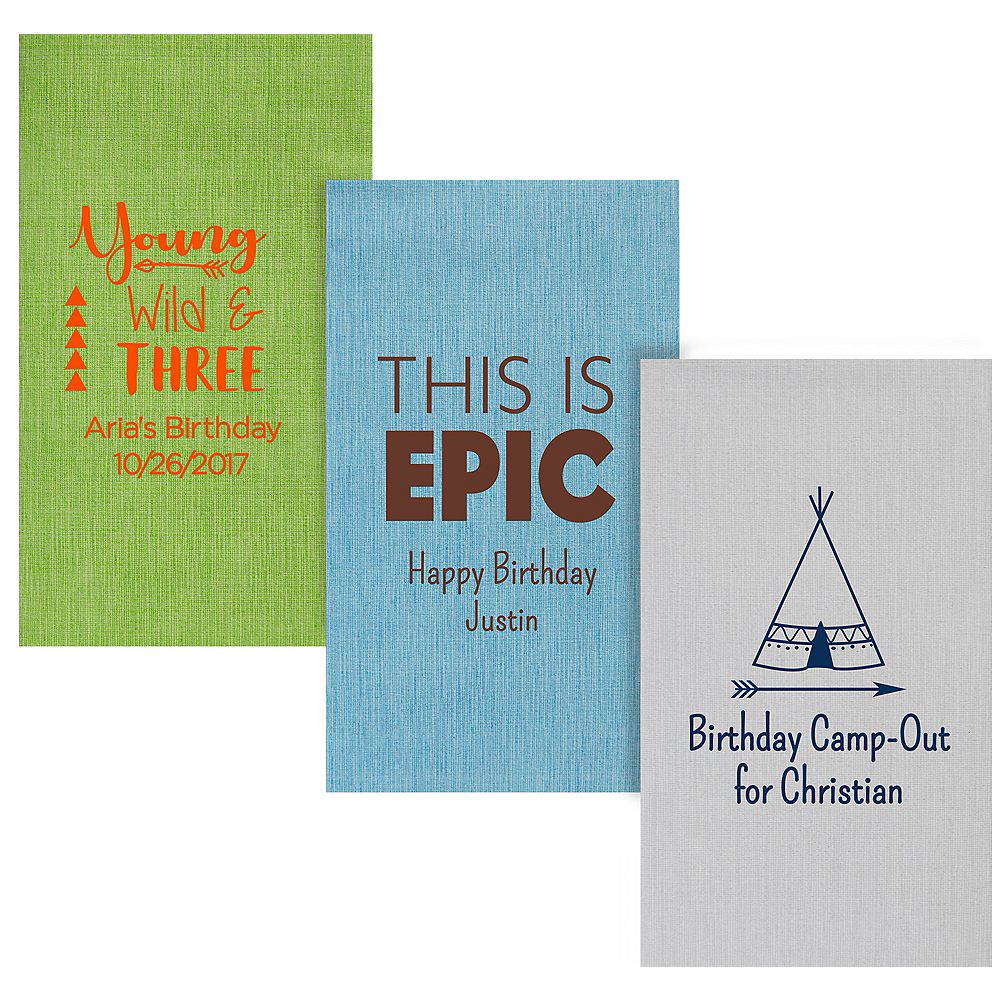 Personalized Boys Birthday Bella Guest Towels Image #1