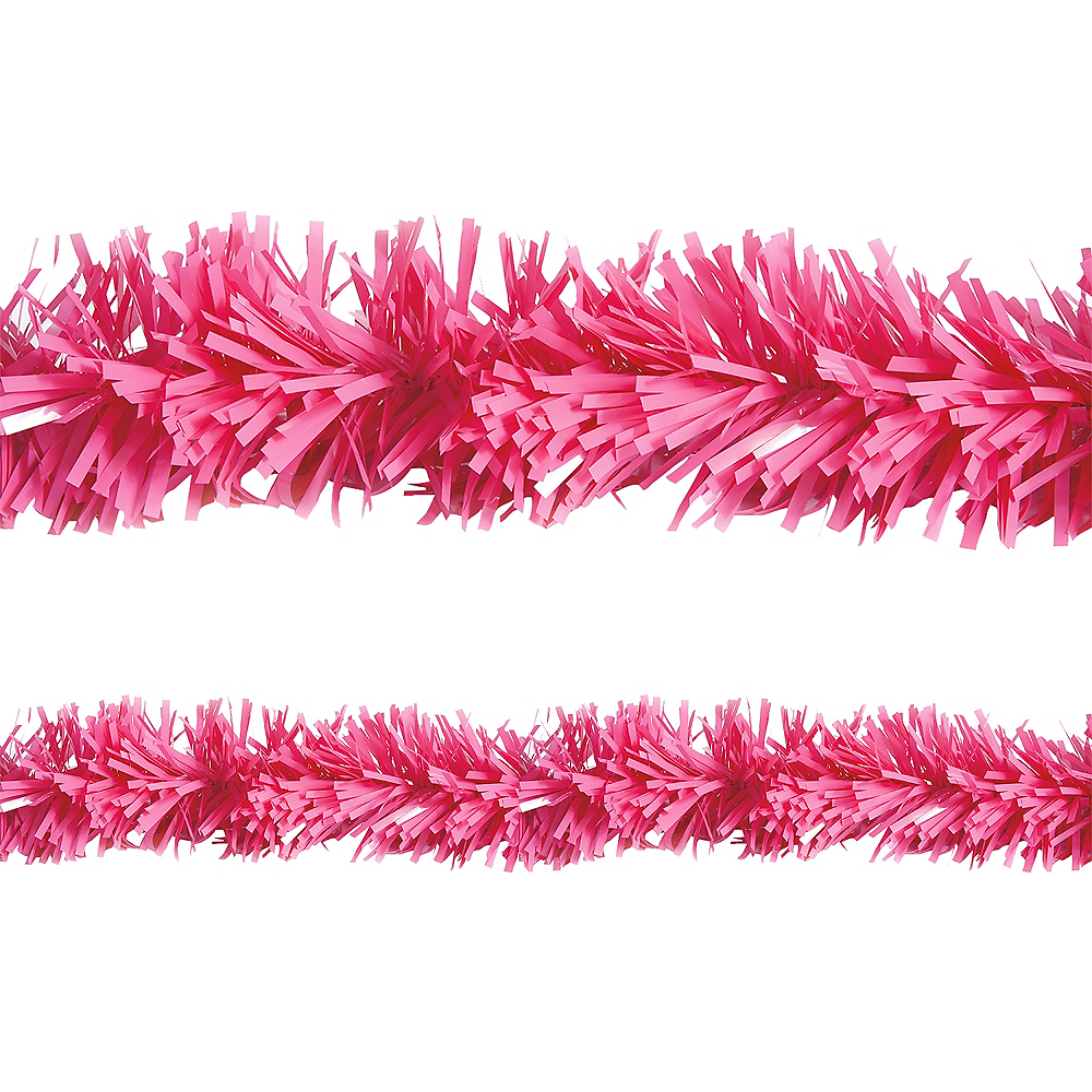 Bright Pink Twisted Fringe Garland Image #1