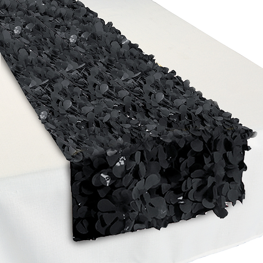Black Floral Table Runner Image #1