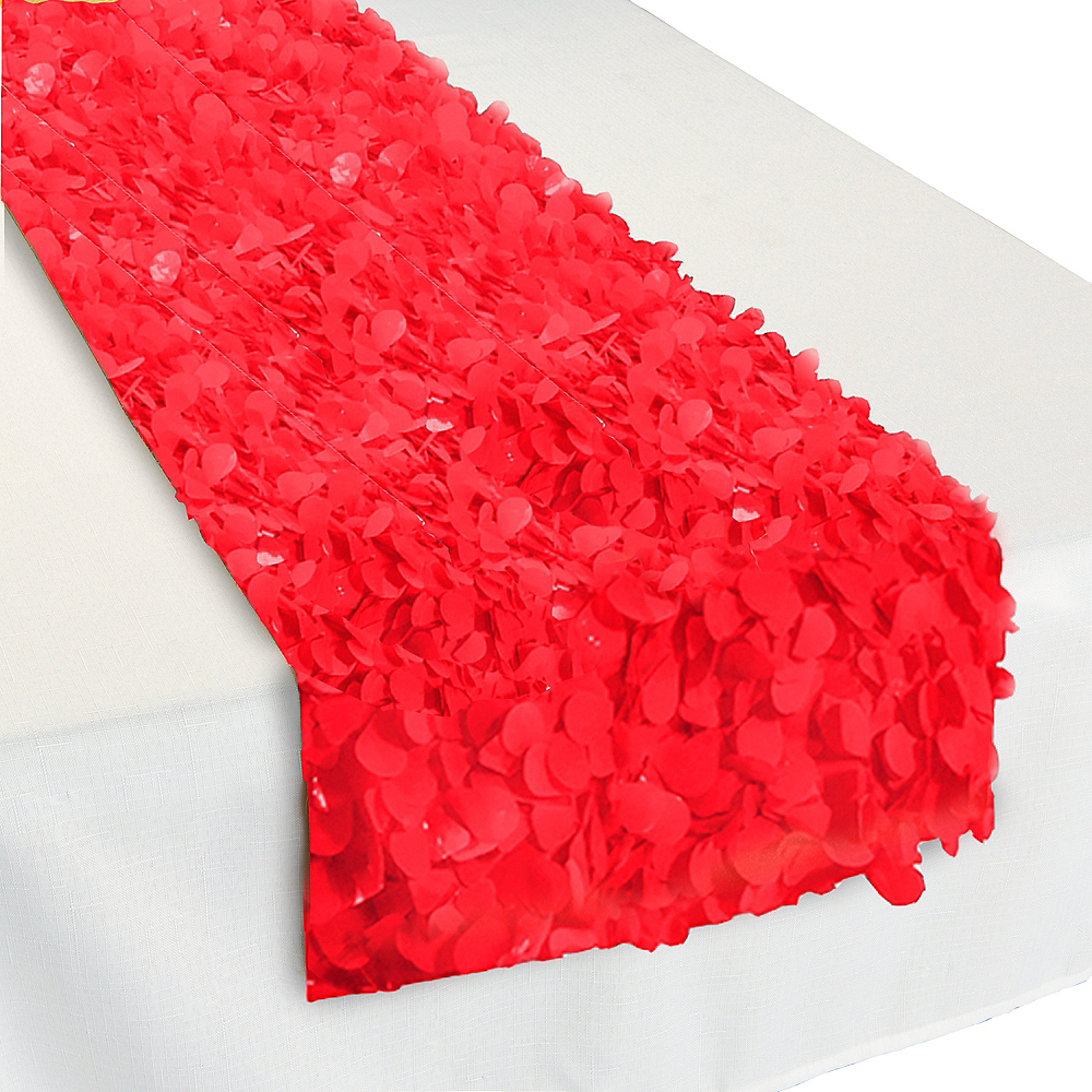 Red Floral Table Runner Image #1