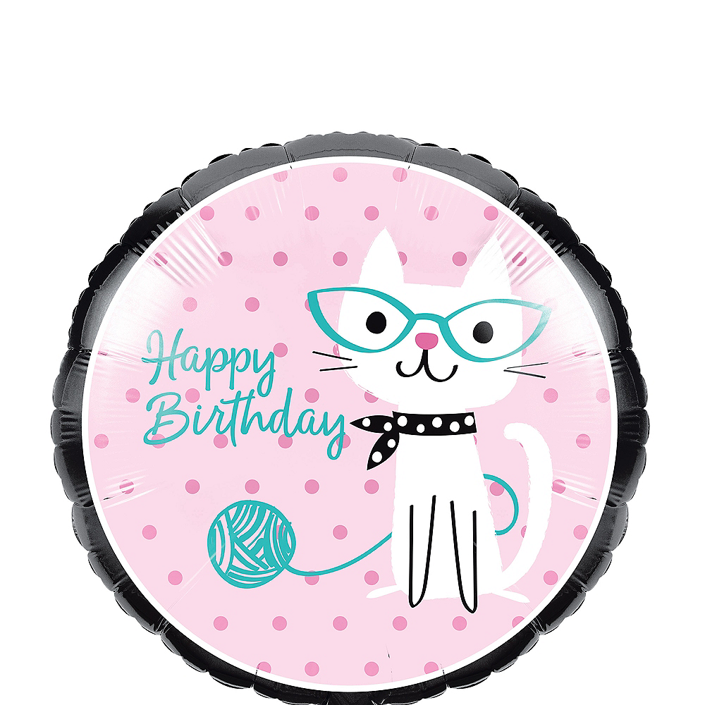 Purrfect Cat Birthday Balloon, 18in Image #1