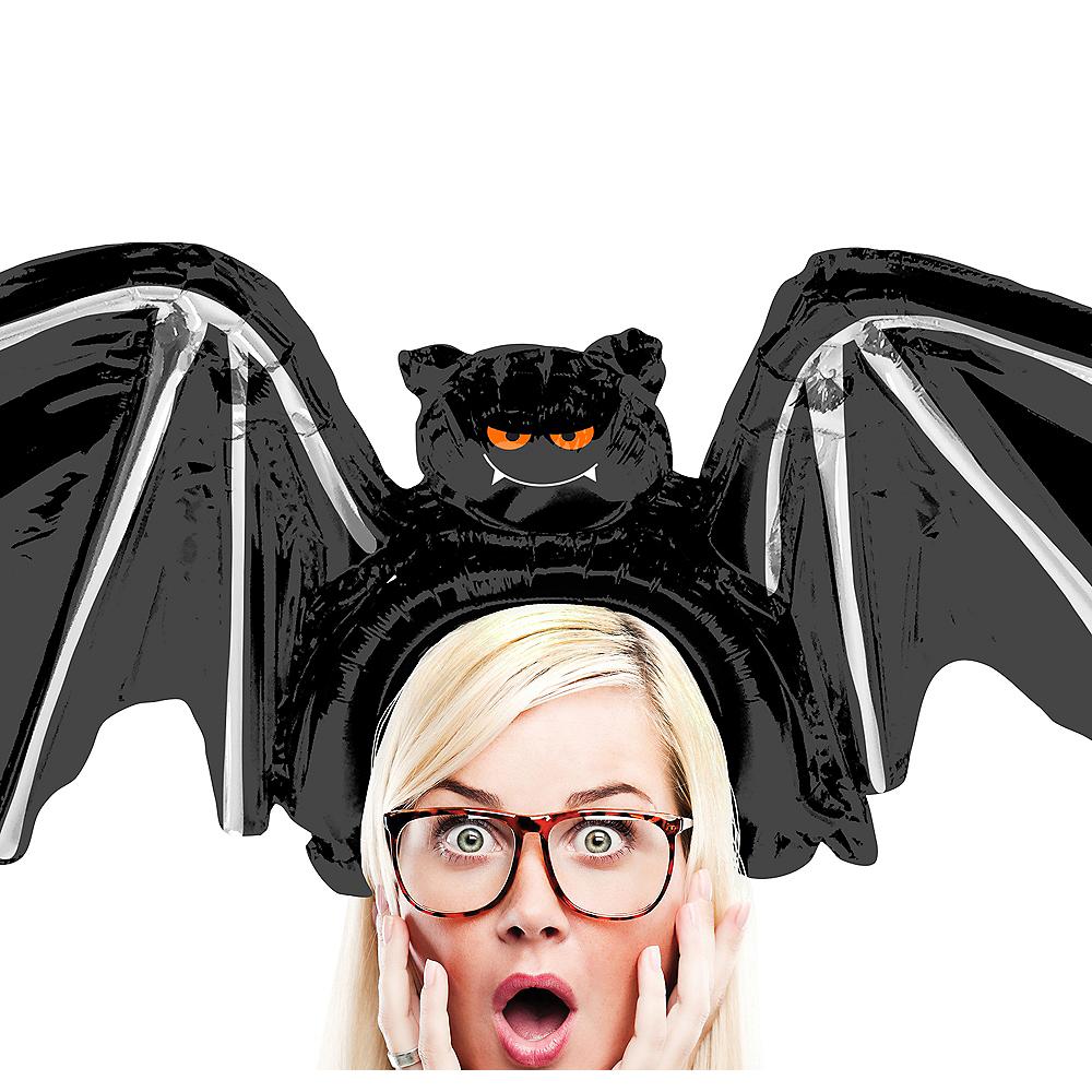 Air-Filled Black Bat Balloon Hat, 27in Image #1