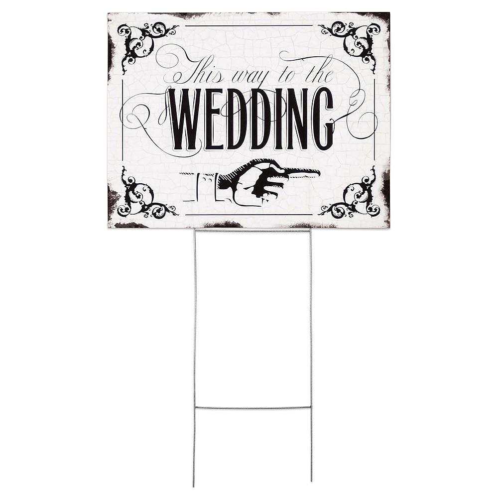 This Way to the Wedding Yard Sign Image #1