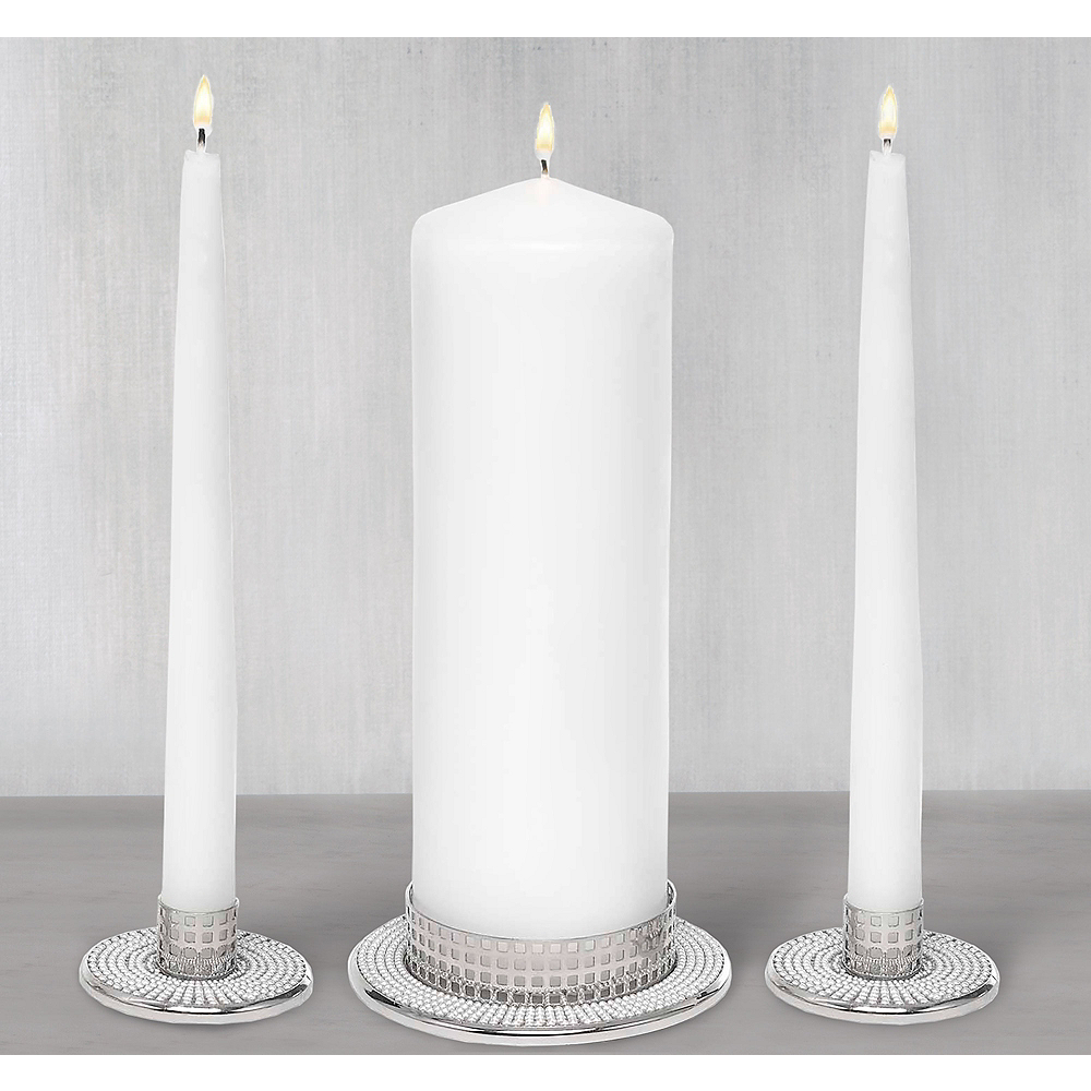 Pearl Candle Holders 3ct Image #1