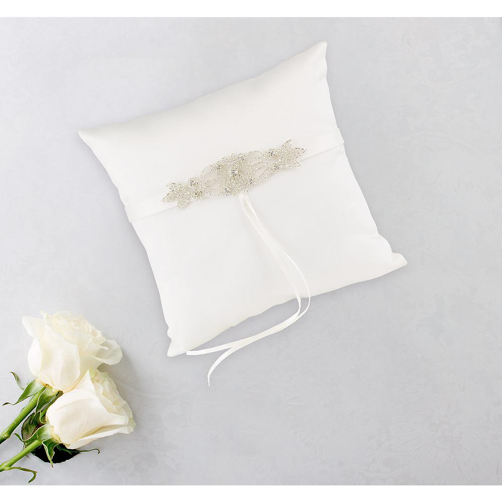 Rhinestone Ring Bearer Pillow Image #1