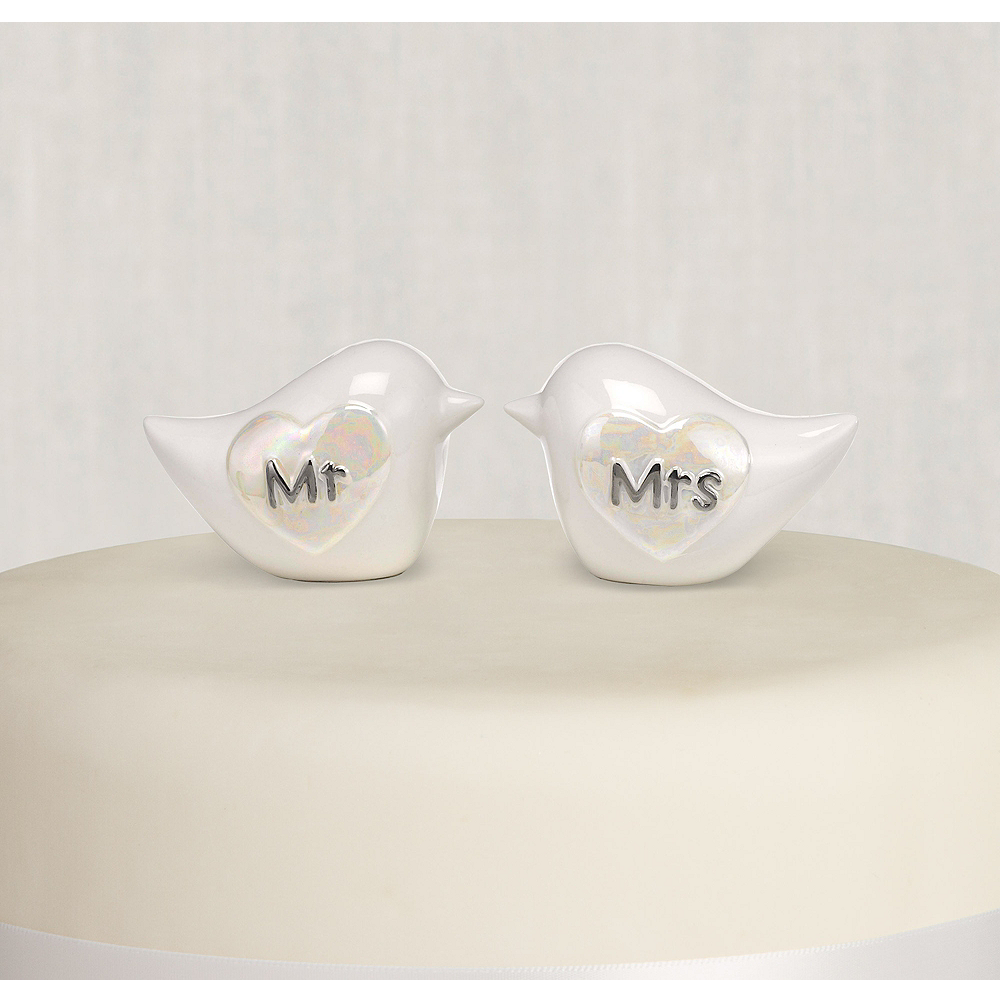 Love Birds Wedding Cake Toppers 2ct Image #1
