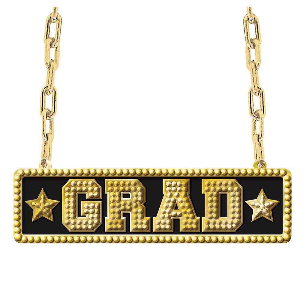 Nav Item for Grad Pendant Chain Link Necklace Image #1