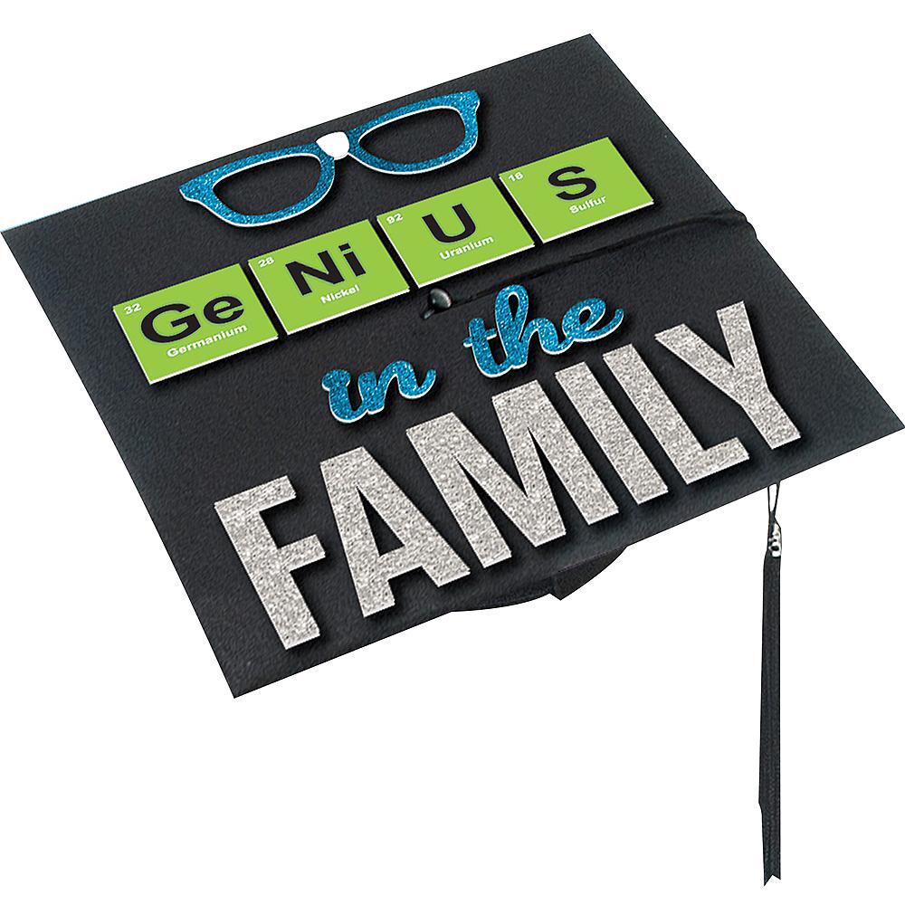 Genius In The Family Graduation Cap Decorating Kit Image #1