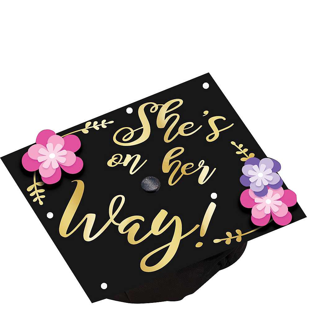 She's On Her Way Graduation Cap Topper Image #1