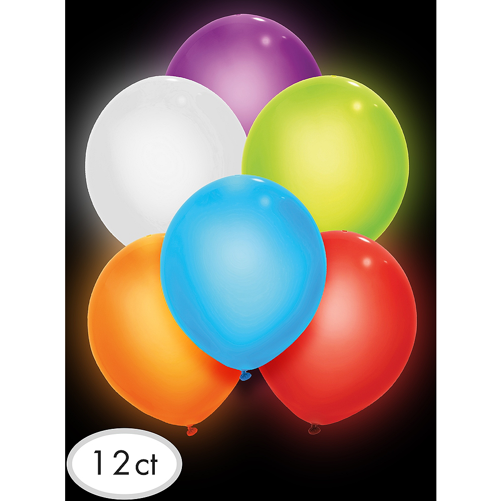 Illooms Light-Up Assorted Color LED Balloons 12ct, 9in Image #3