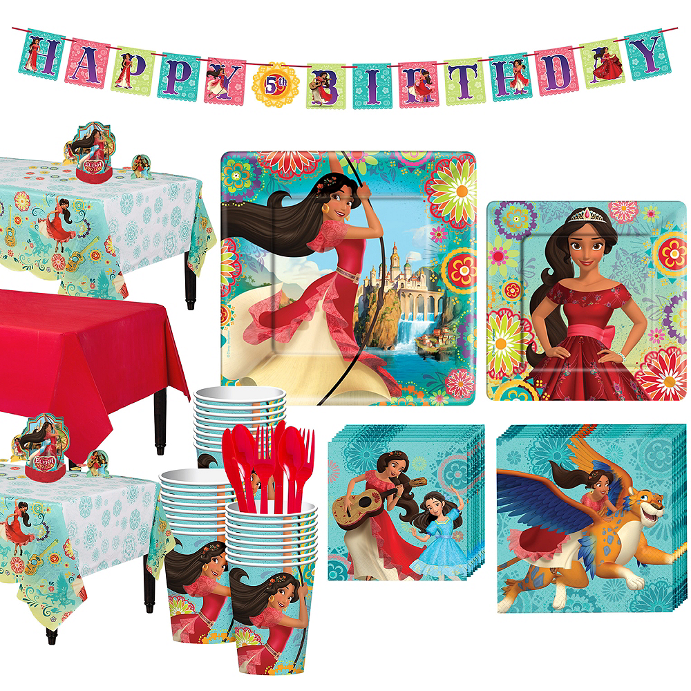 Elena of Avalor Tableware Party Kit for 24 Guests Image #1
