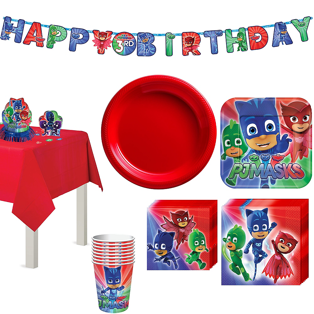 PJ Masks Tableware Party Kit for 8 Guests Image #1