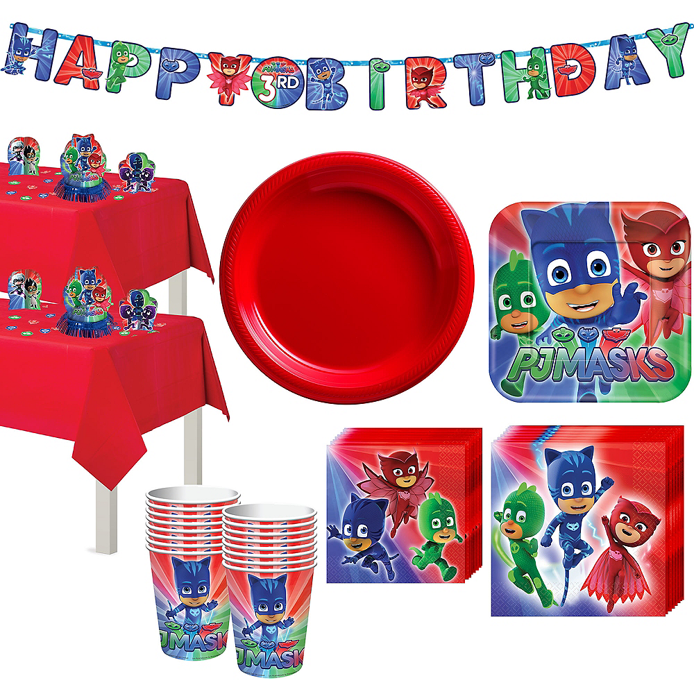 Nav Item For PJ Masks Tableware Party Kit 16 Guests Image 1