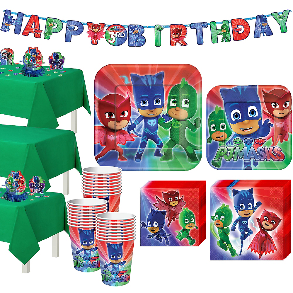 PJ Masks Tableware Party Kit for 24 Guests Image #1