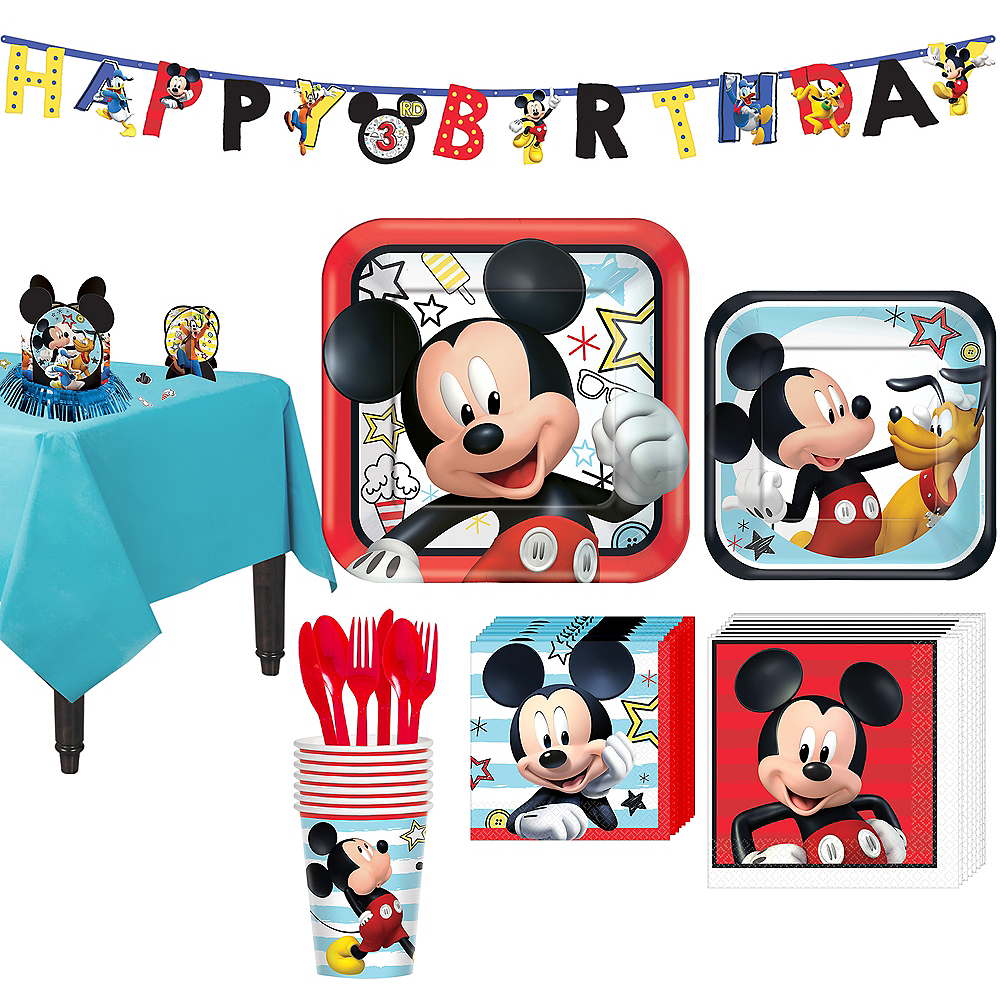 Mickey Mouse Tableware Party Kit for 8 Guests Image #1