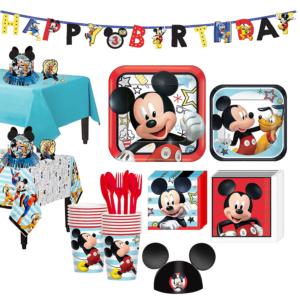 Nav Item for Mickey Mouse Tableware Party Kit for 16 Guests Image #1