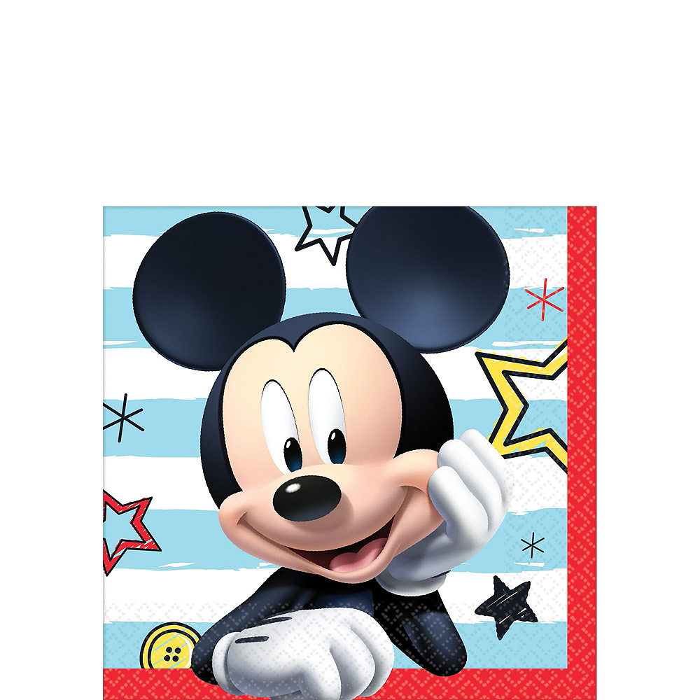 Mickey Mouse Tableware Party Kit for 16 Guests Image #6