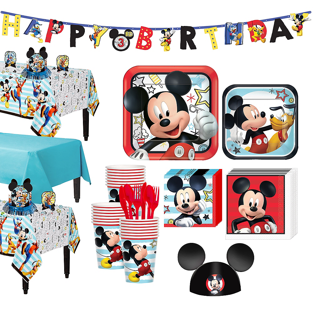 Mickey Mouse Tableware Party Kit for 24 Guests Image #1