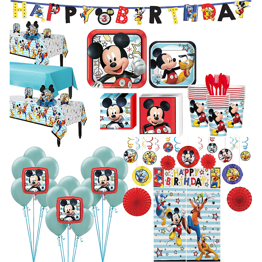 Mickey Mouse Tableware Ultimate Kit for 24 Guests Image #1