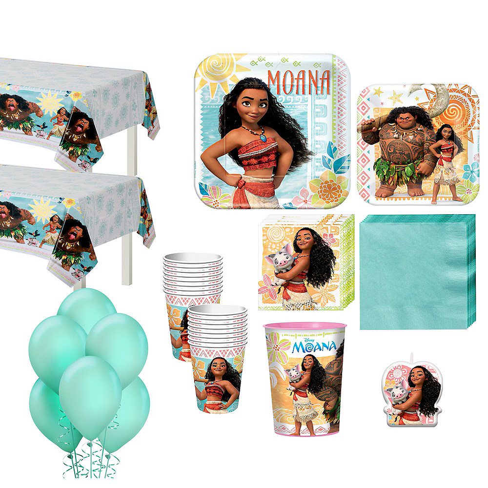 Moana Tableware Party Kit For 16 Guests Image 1