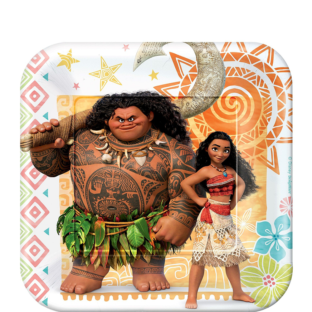 Moana Tableware Party Kit for 16 Guests Image #2