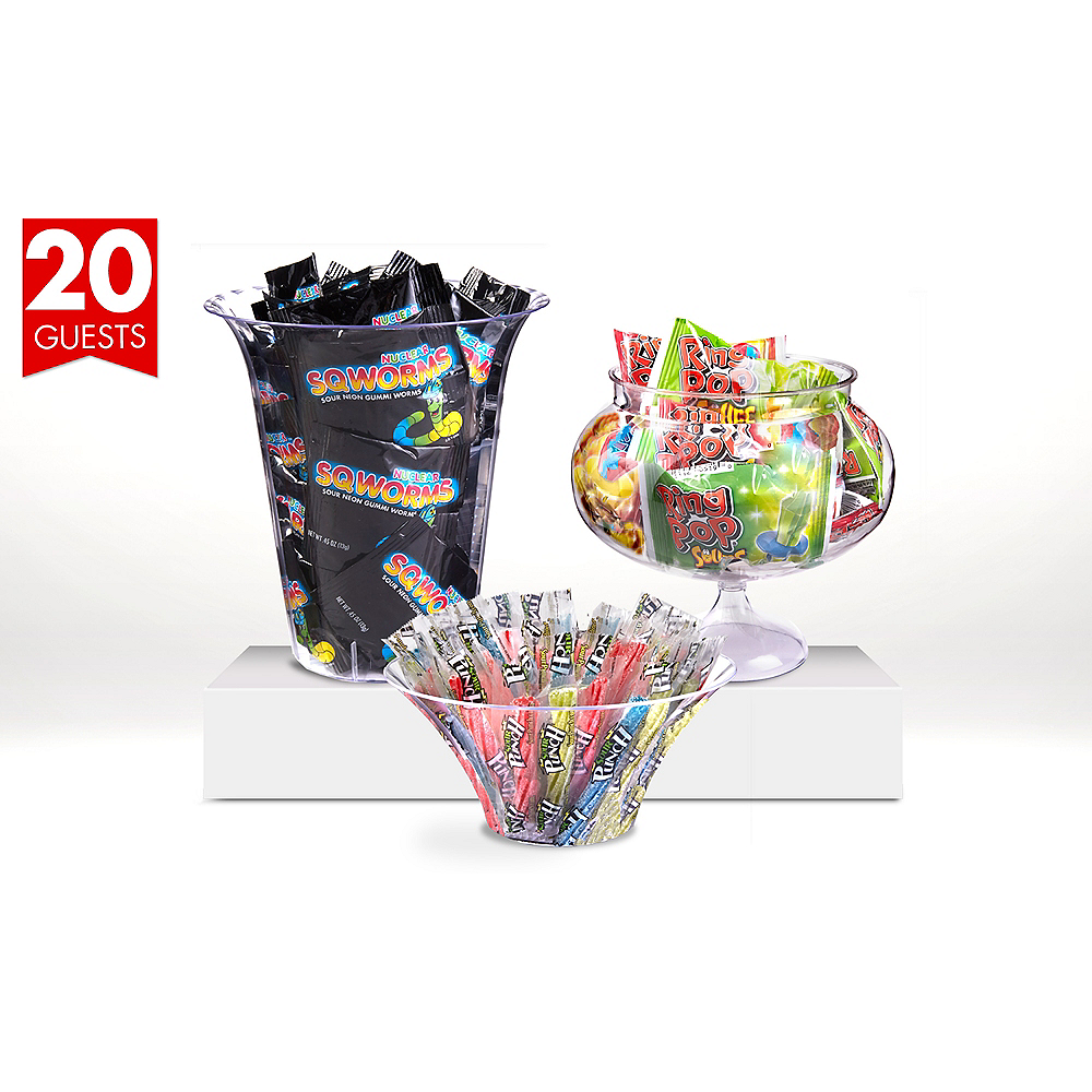 Branded Sour Candy Kit with Containers for 20 Guests Image #1