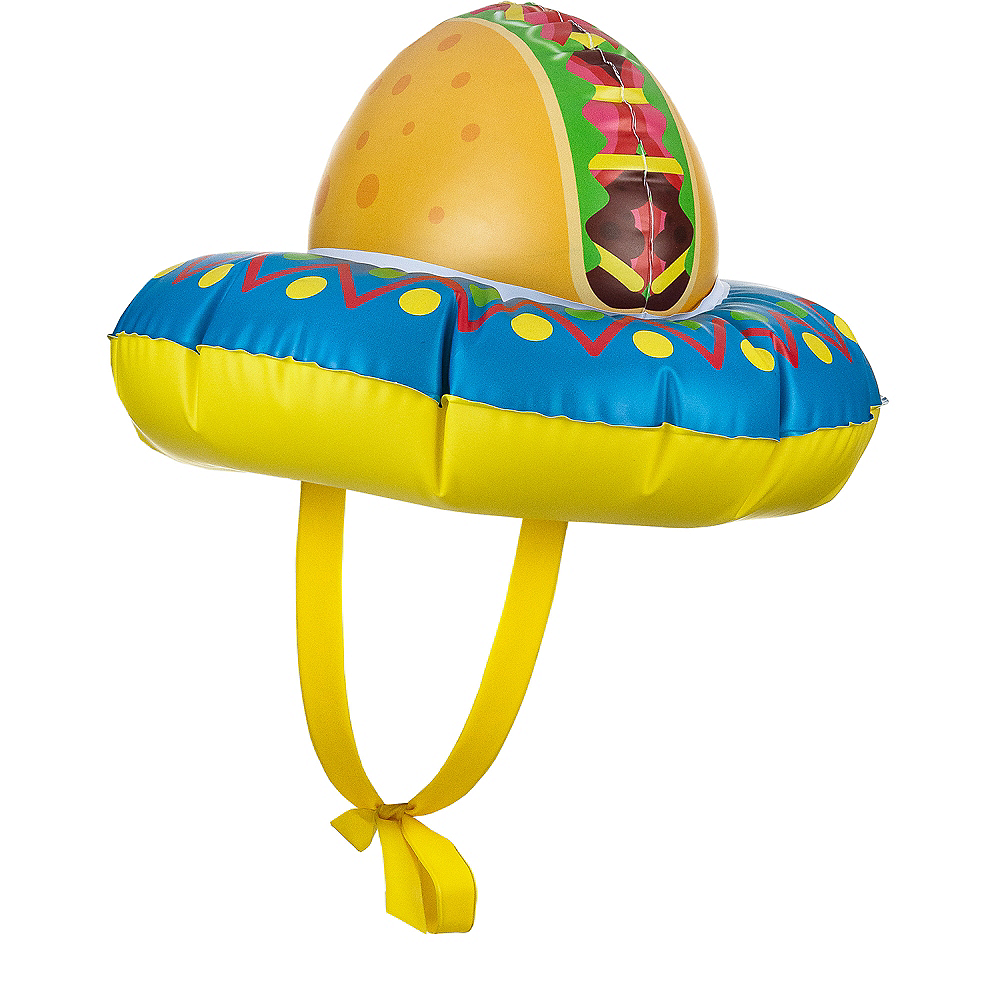 Inflatable Taco Hat Image #1