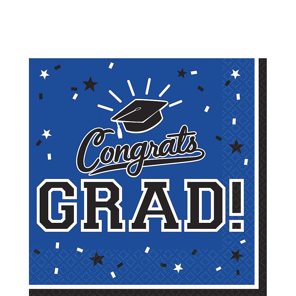 Blue Congrats Grad Lunch Napkins 36ct Image #1
