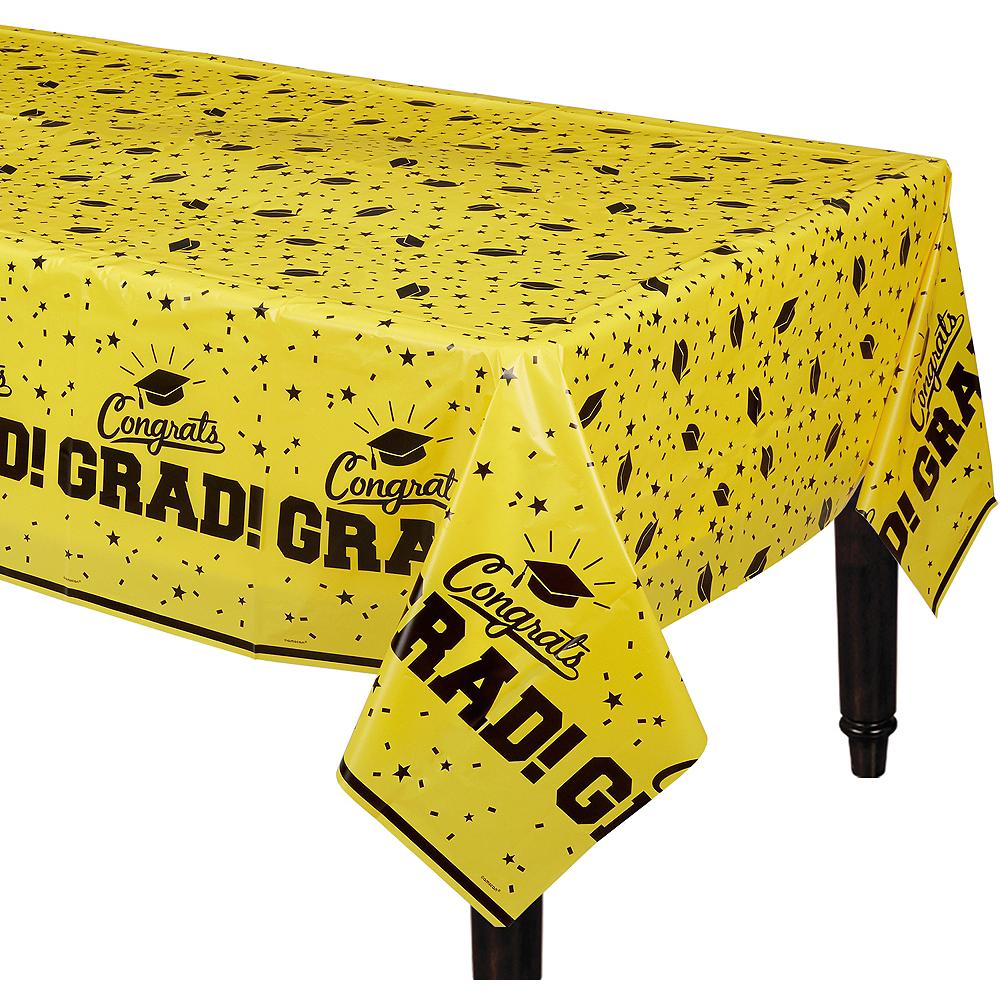 Yellow Congrats Grad Table Cover Image #1