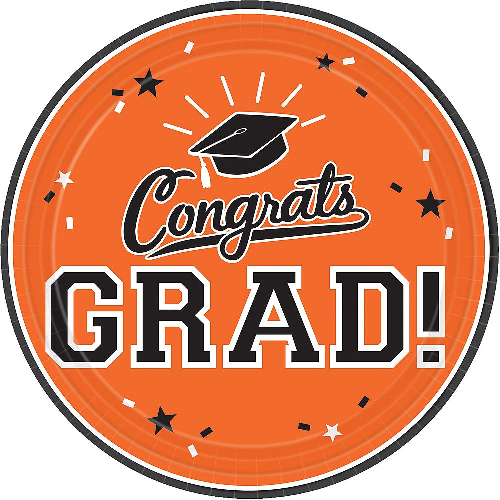 Orange Congrats Grad Lunch Plates 18ct Image #1