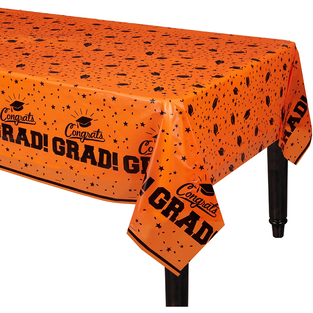 Orange Congrats Grad Table Cover Image #1
