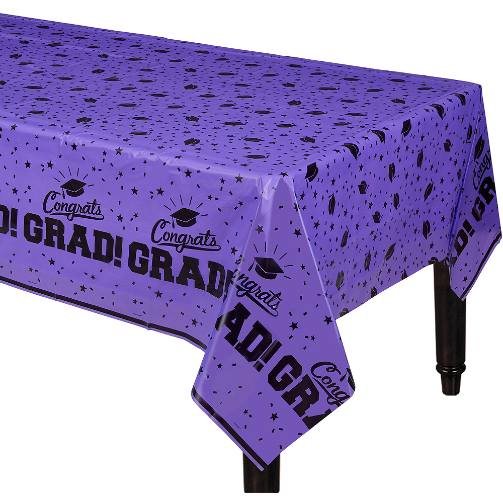 Nav Item for Purple Congrats Grad Table Cover Image #1