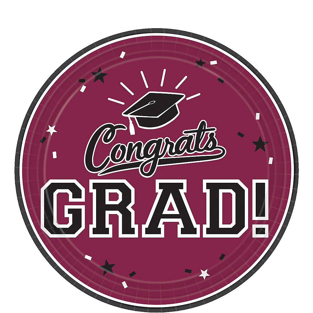 Berry Congrats Grad Dessert Plates 18ct Image #1