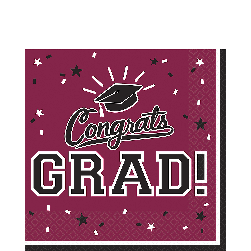 Nav Item for Berry Congrats Grad Lunch Napkins 36ct Image #1