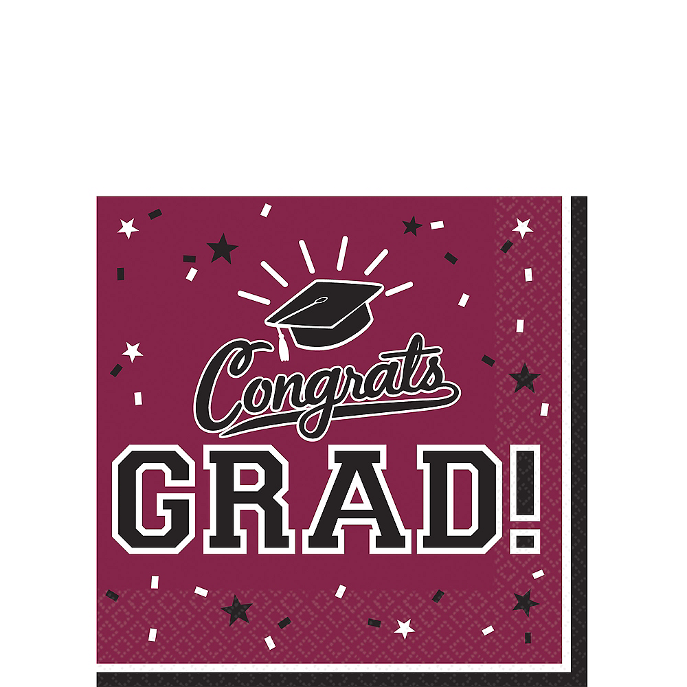 Nav Item for Berry Congrats Grad Beverage Napkins 36ct Image #1