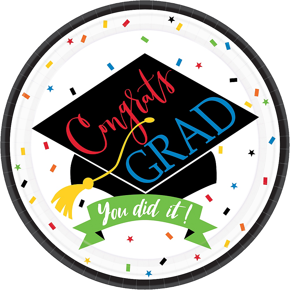 You Did It Grad Lunch Plates 60ct Image #1