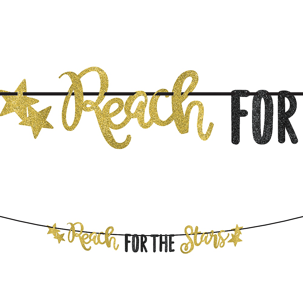 Glitter Reach For The Stars Letter Banner Image #1