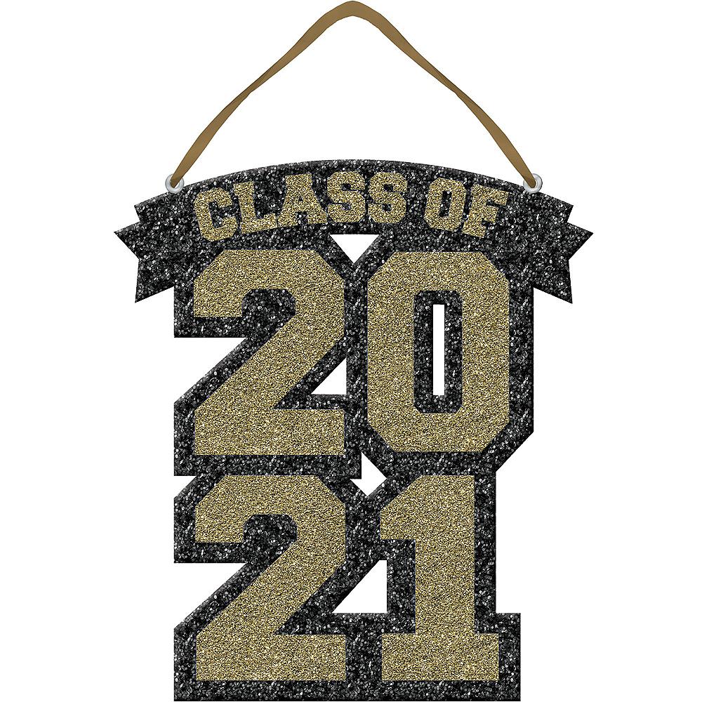 Glitter Gold Class of 2019 Graduation Sign Image #1