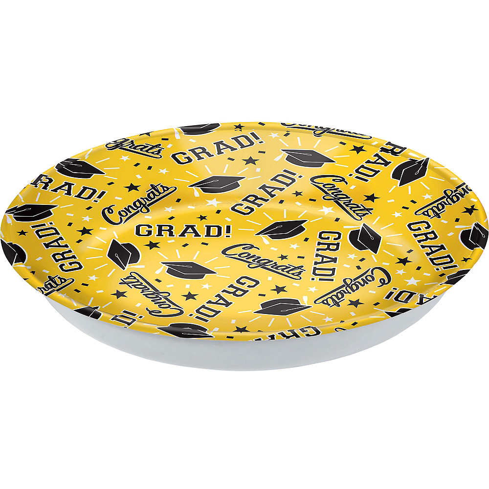 Yellow Congrats Grad Serving Bowl Image #1