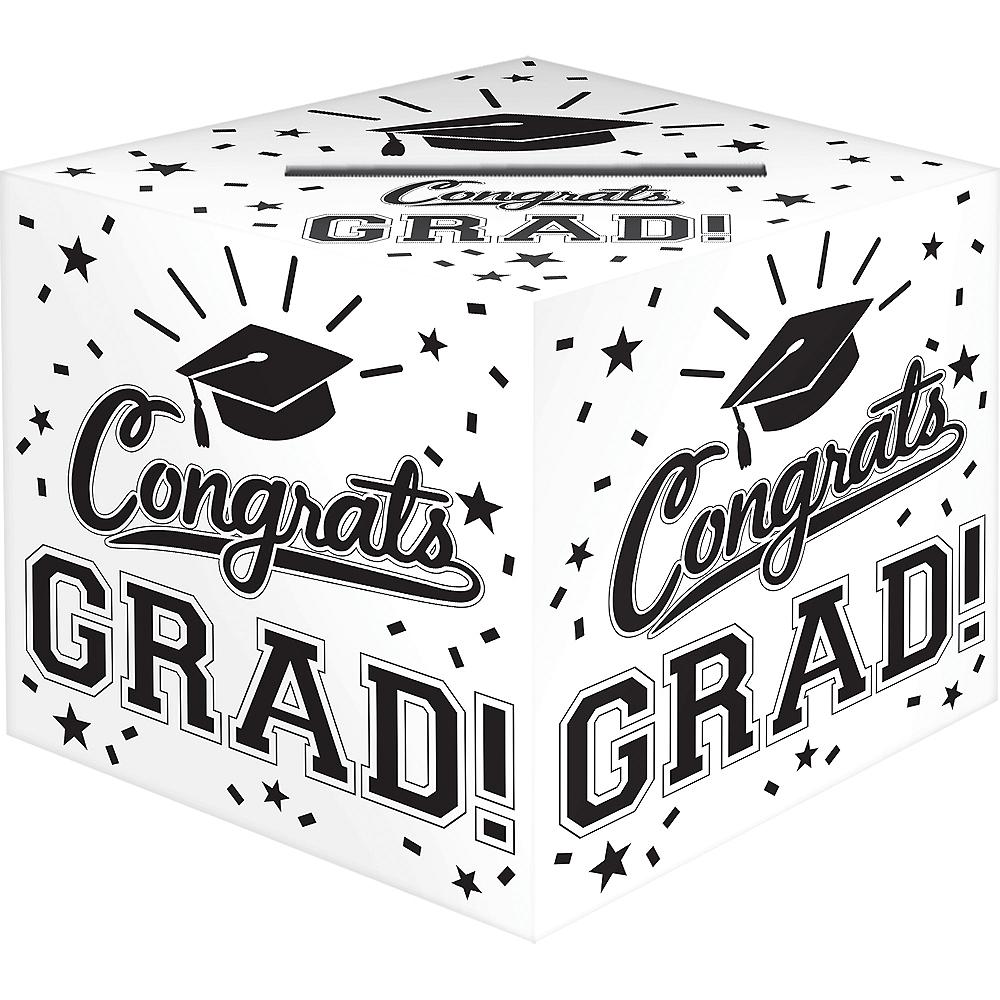 White Congrats Grad Card Holder Box Image #1