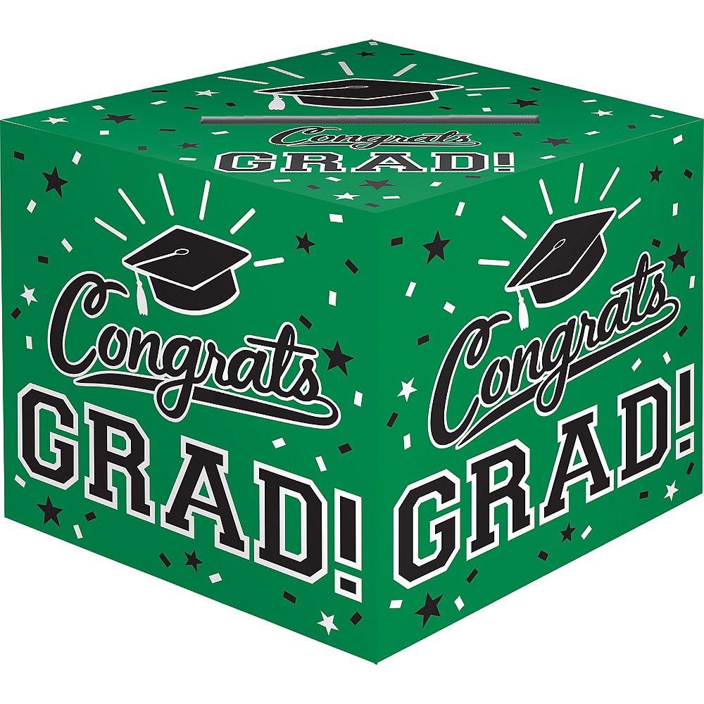 Green Congrats Grad Card Holder Box Image #1