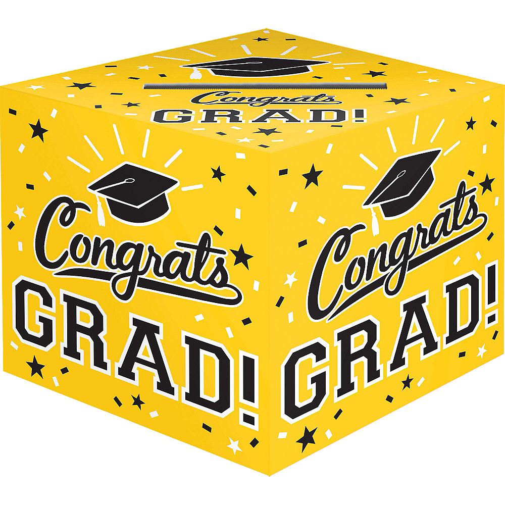 Yellow Congrats Grad Card Holder Box Image #1
