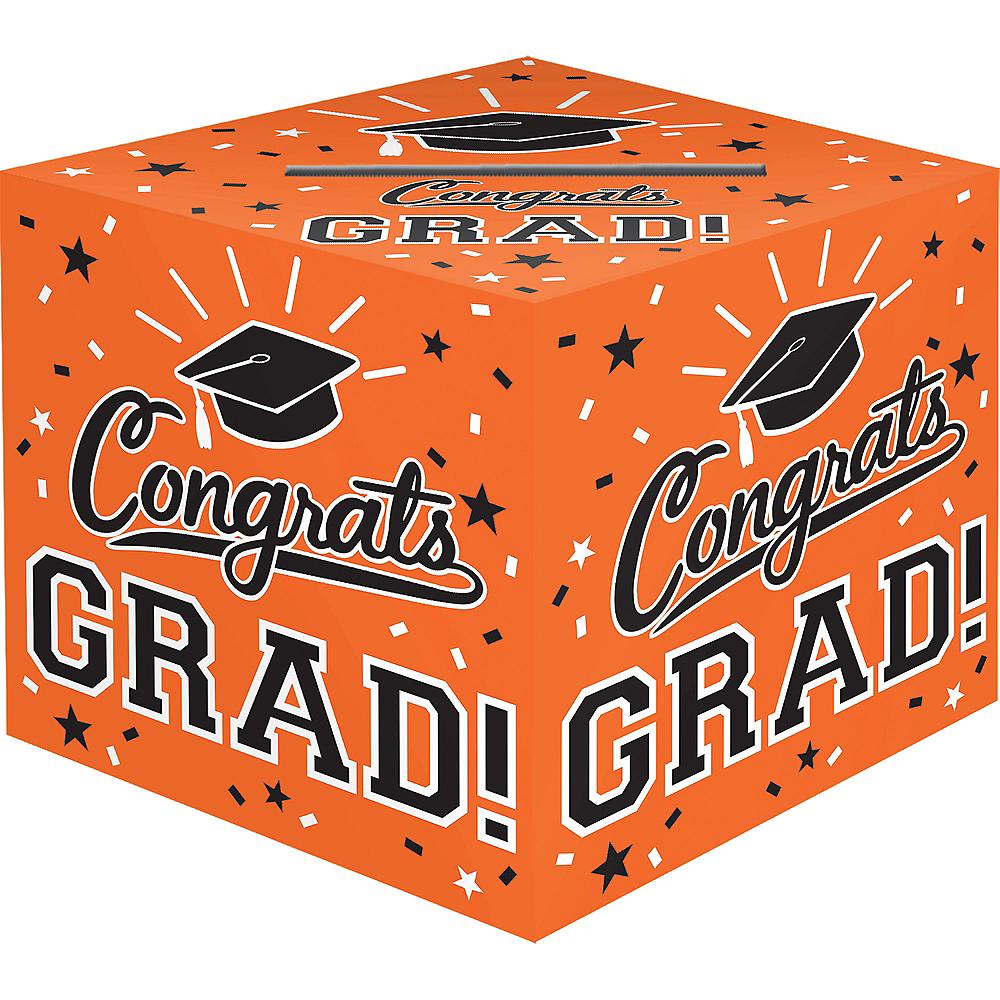 Orange Congrats Grad Card Holder Box Image #1