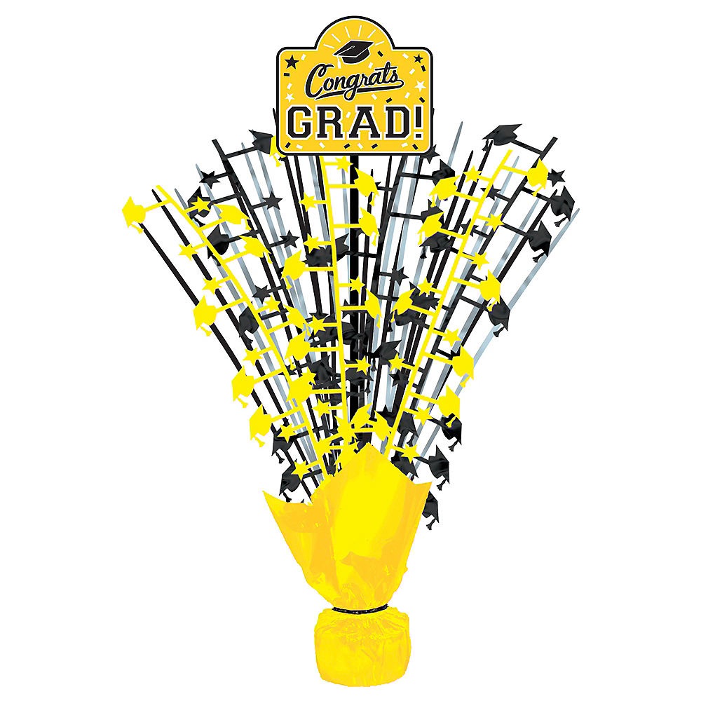 Yellow Congrats Grad Spray Centerpiece Image #1