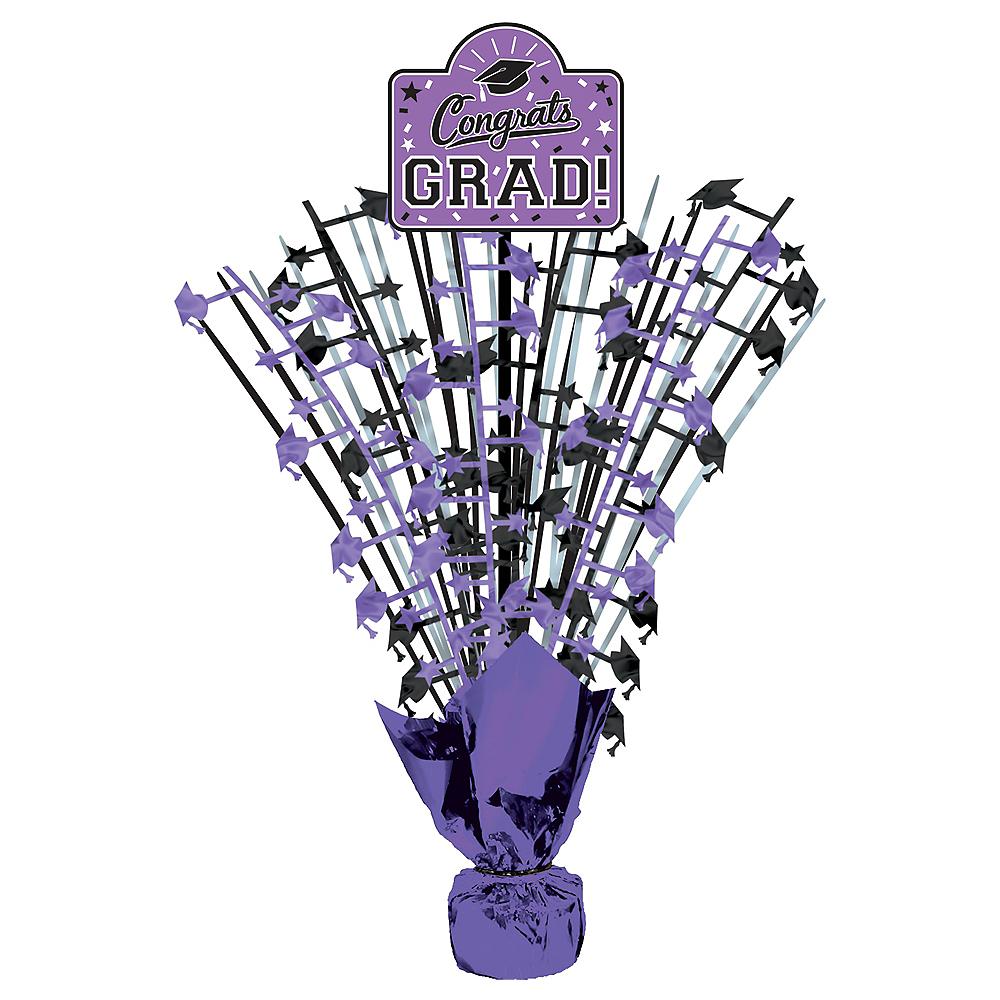 Purple Congrats Grad Spray Centerpiece Image #1