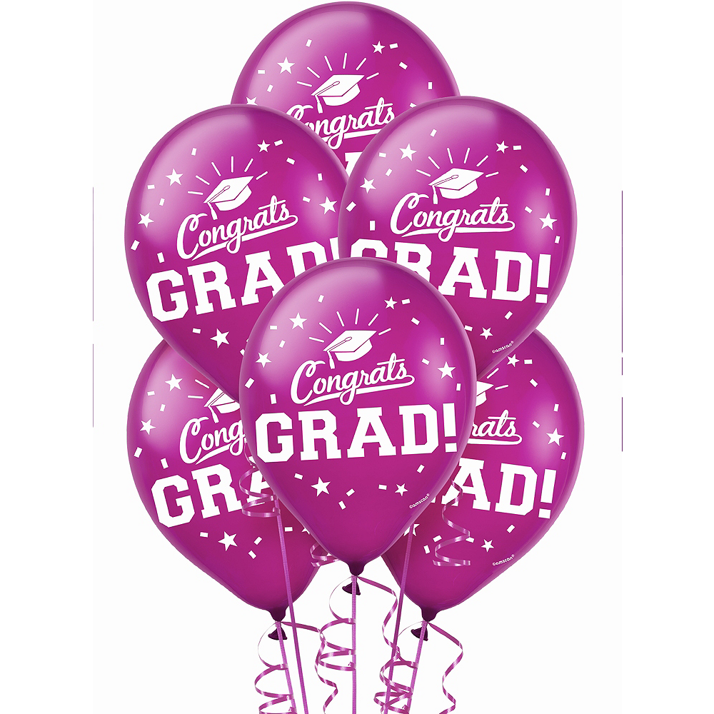 Nav Item for Berry Congrats Grad Balloons 15ct Image #1